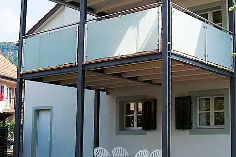 balkone von huber stahl und metallbau erlinsbach. Black Bedroom Furniture Sets. Home Design Ideas
